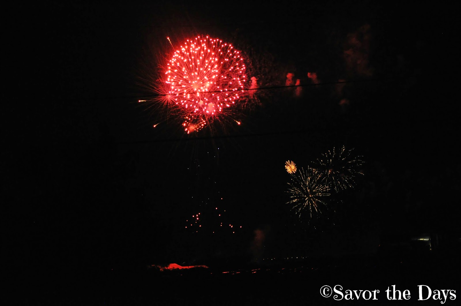 Double fireworks show