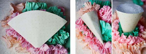 Cómo hacer conos de helados en tela papel