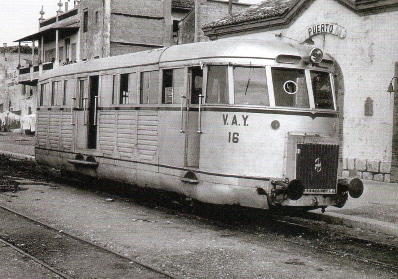 Autovia a gasoil de la VAY a l'estació del Grau