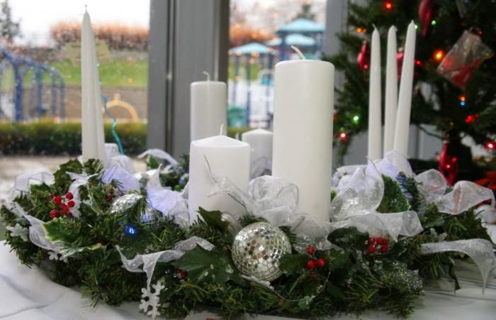 Centros de mesa de navidad con velas parte 3 for Centros navidenos con velas