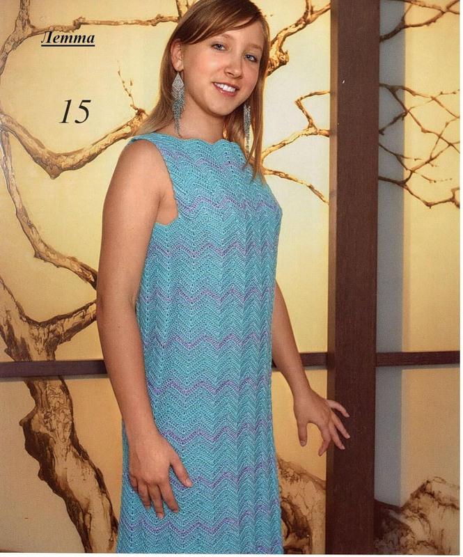 Несколько летних платьев крючком. 34555