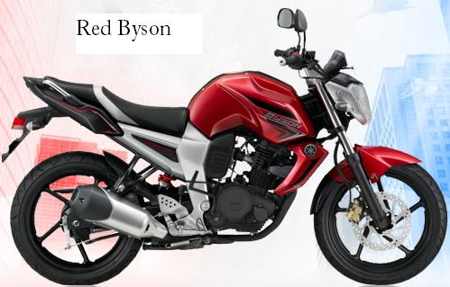 Kawasaki Ninja 250r Red And Black. Yamaha Byson Red color