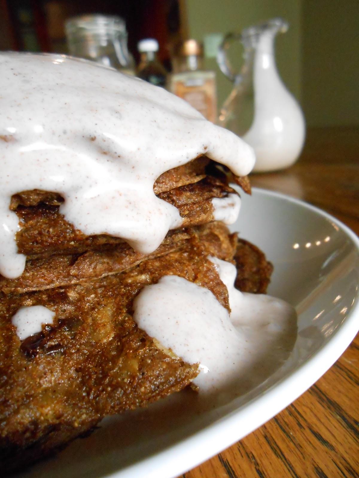 ... pancakes taste like cookies. Amazingly wonderful frosted cookies