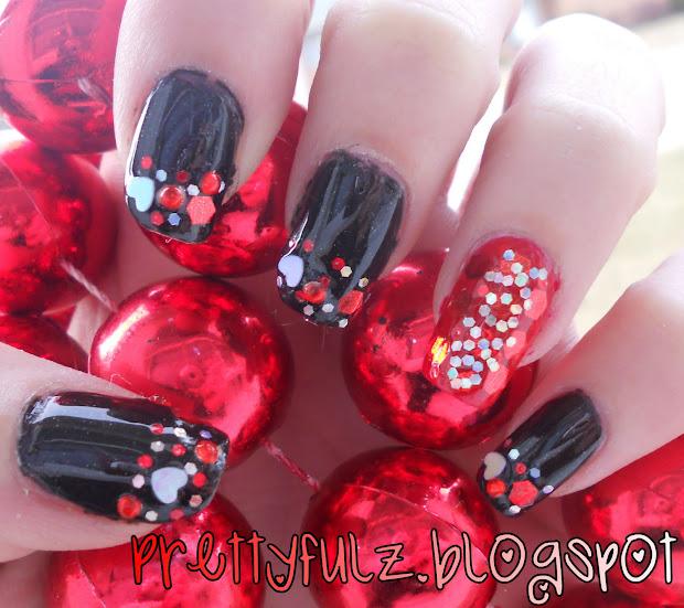 prettyfulz valentine's day nail