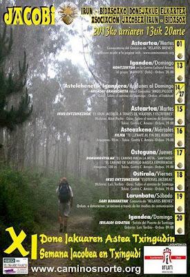 Programa de las XI Jornadas Jacobeas en Irún - Bidasoa.