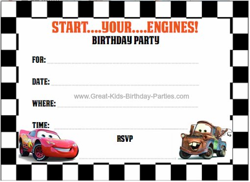 Cars 2 Invitation Template Car Pictures - Car Canyon