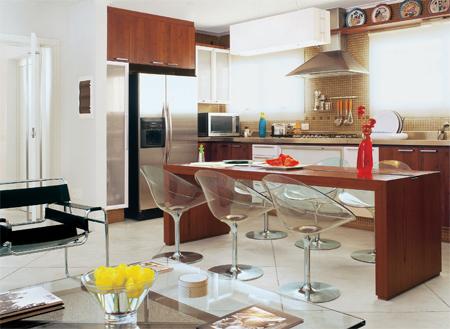 Casinha bonitinha cozinhas e salas integradas ou para for Cocina y lavanderia juntas