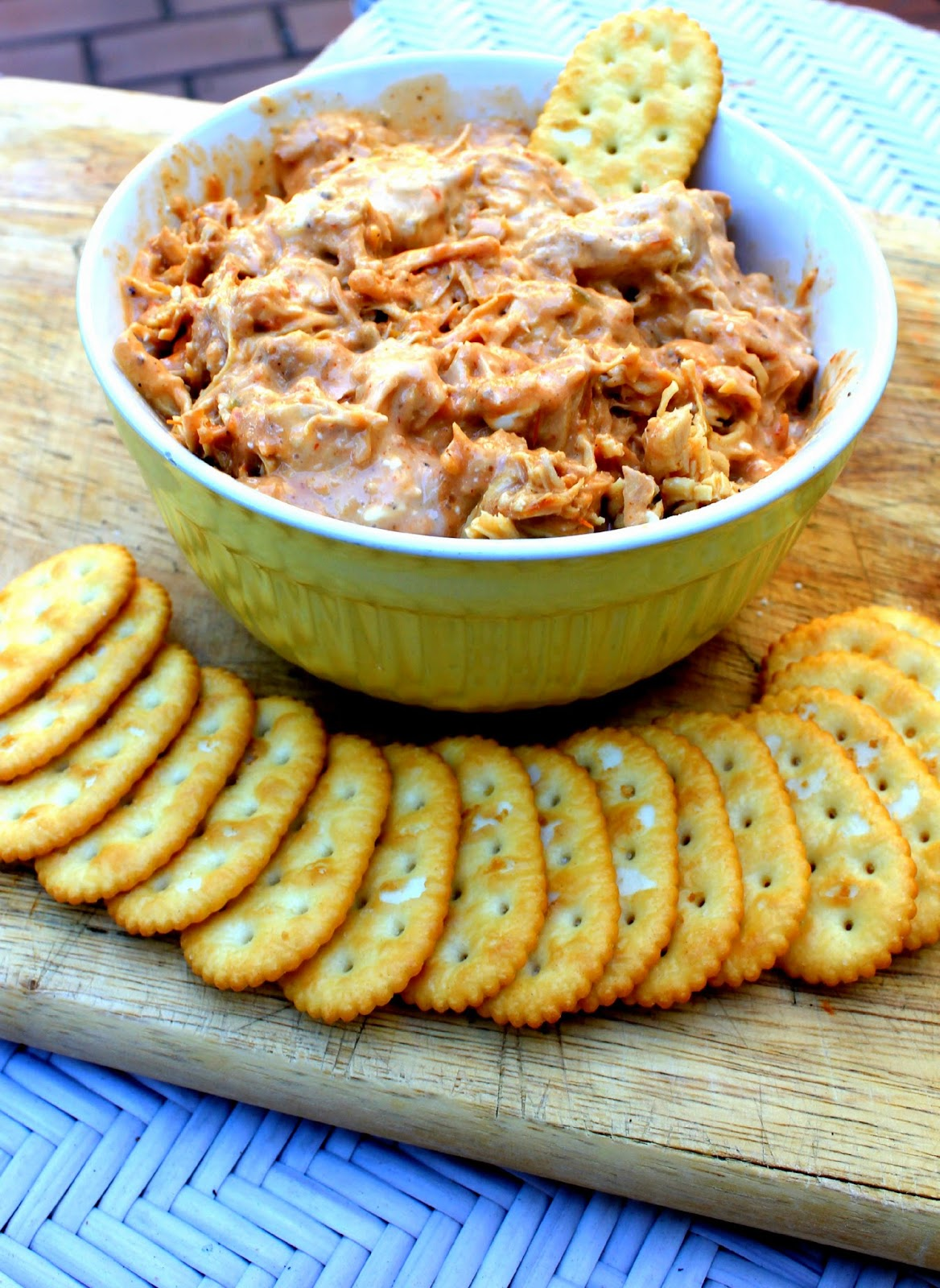 Buffalo Chicken and Bleu Cheese Dip recipe