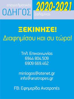 ΕΠΑΓΓΕΛΜΑΤΙΚΟΣ ΟΔΗΓΟΣ ΣΑΛΑΜΙΝΑ 2020 – 21