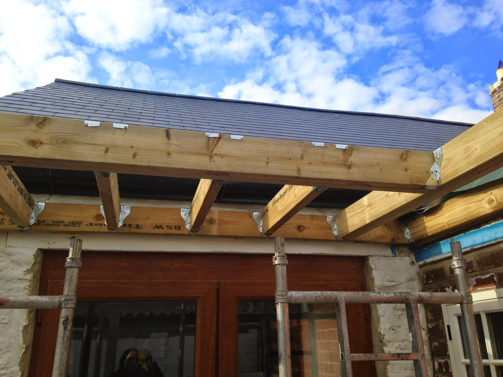 north view cottage fitting roof and sky lantern