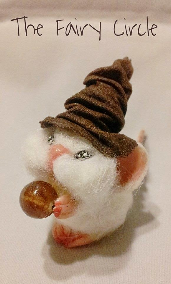 mouse ooak mice topo polimery clay miniature halloween animal cute