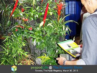 PeapodLife's EcoSystem at The Property Show, Toronto, 2013, photo by Olga Goubar