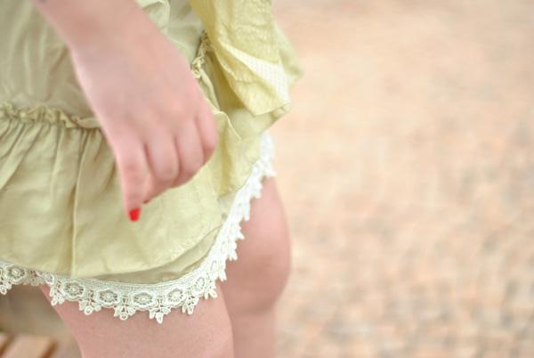 look, vestido seda e renda
