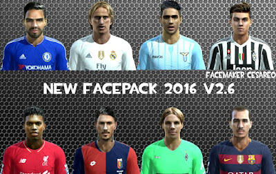 New Facepack 2016 V2.6 Pes 2013