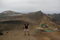 Tras haber pasado el tramos de la laguna turquesa, en Tongariro.