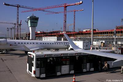 München, flygplats, flyghafen, international, airport, lufthansa, building new terminal, bygga ny terminal, byggarbetsplats, building site