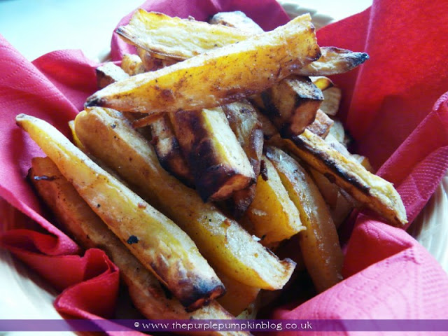 Oven Baked Spicy Sweet Potato Fries | The Purple Pumpkin Blog