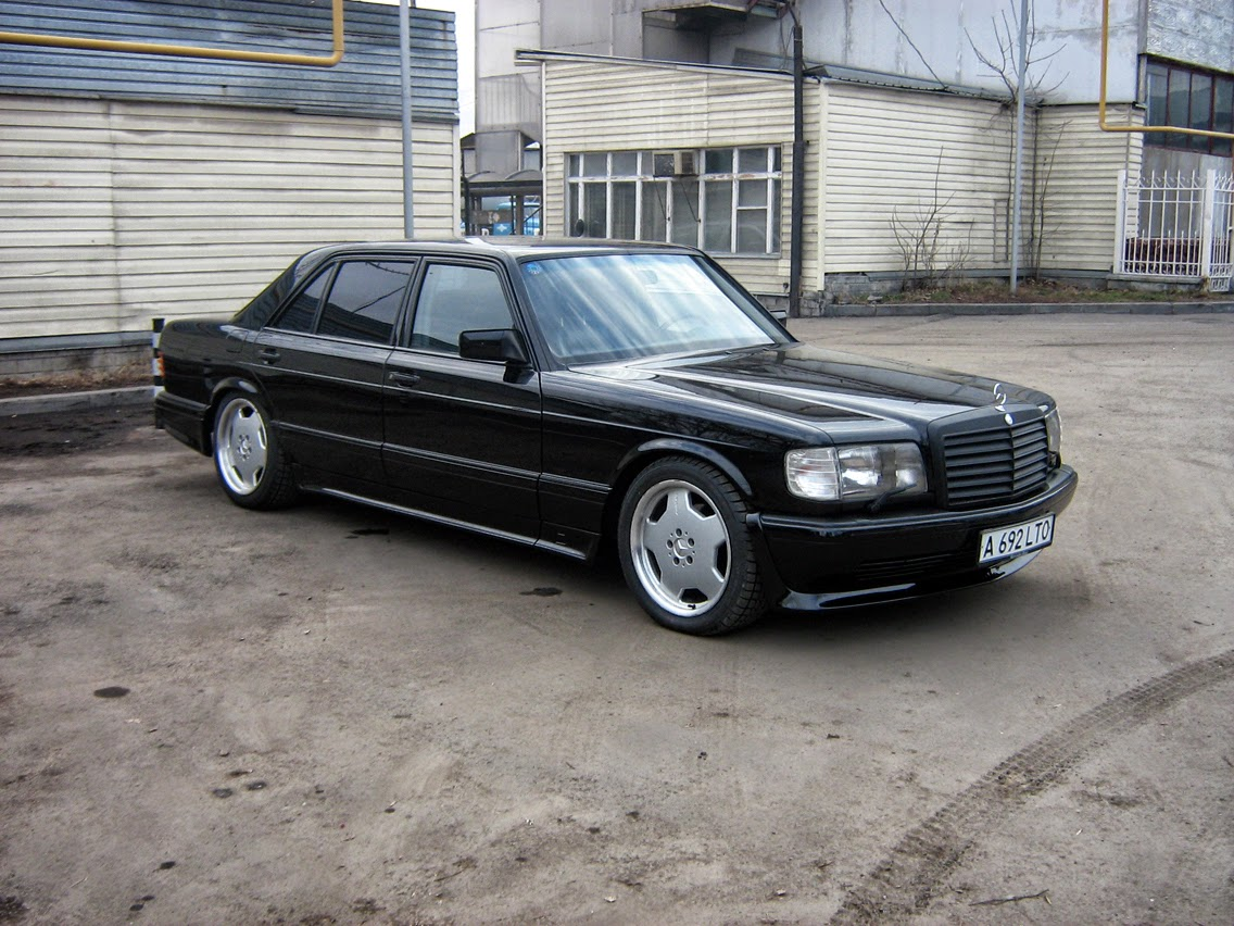 mercedes benz w126 500sel black on amg monoblocks benztuning
