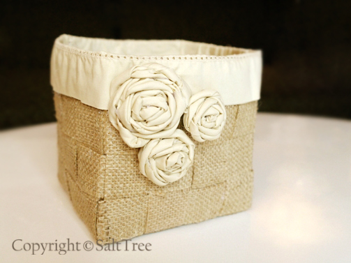 burlap basket