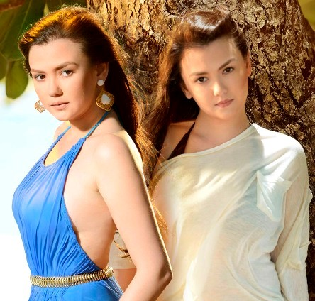Angelica Panganiban as the twins Rebecca and Serena in 'Apoy Sa Dagat'
