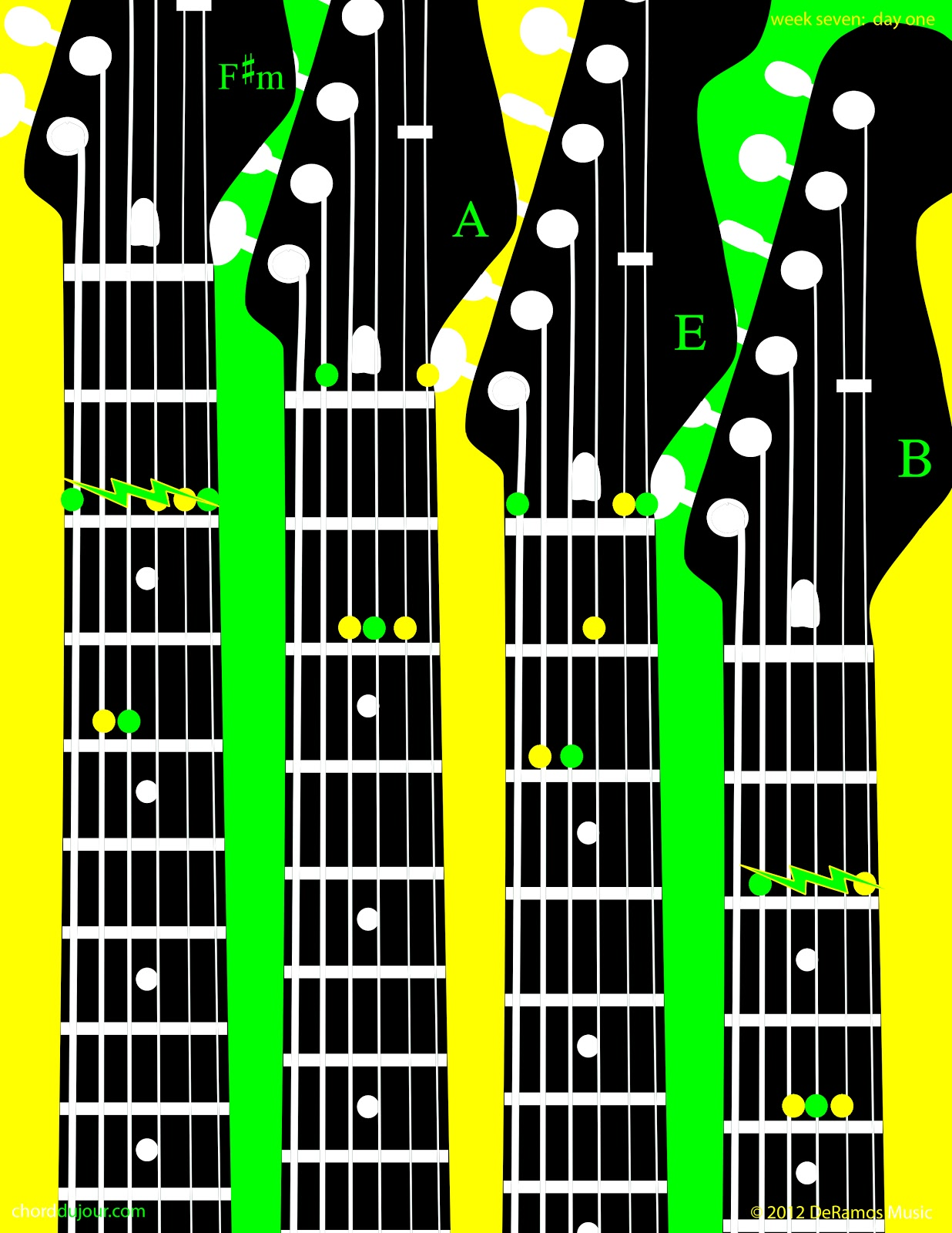 Chord Du Jour Four Chords For Piano Four Chords For Guitar