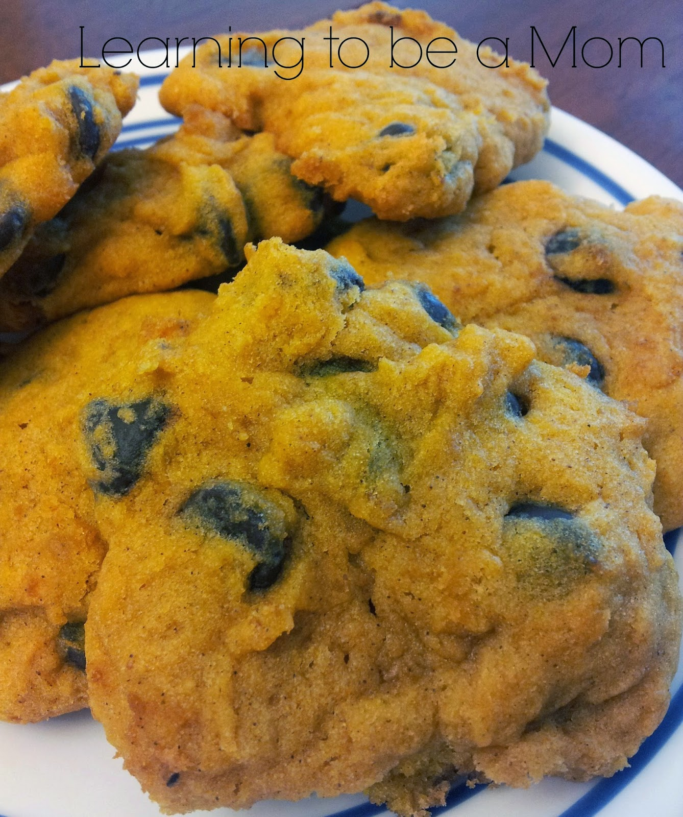 Learning To Be a Mom: Super Soft Pumpkin Chocolate Chip Cookies