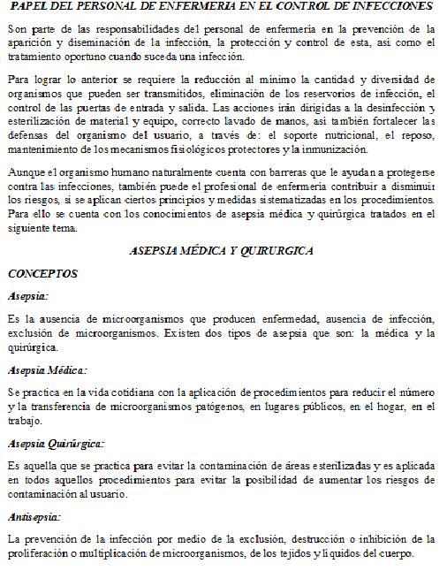 Baño De Regadera Fundamentos De Enfermeria:FUNDAMENTOS DE ENFERMERIA: Asepsia Médica y Quirúrgica