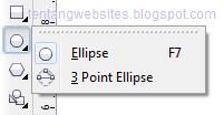 Fungsi elipse pada toolbox corelDraw