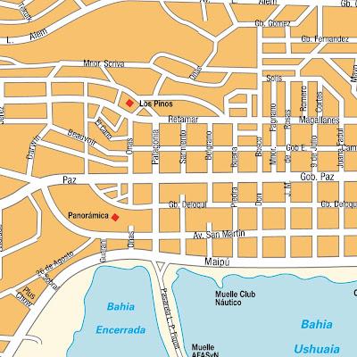 Ushuaia Mapa de Político