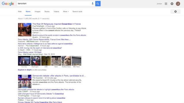 Esta nova extensão Chrome substitui 'terrorista' por 'covarde' na Web