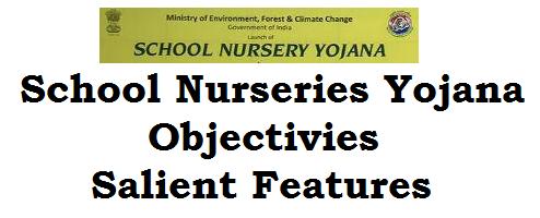School Nursery Yojana,Objectivies,Salient Features