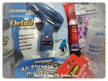 Glue guns, small and large glue sticks, crackle medium, heat tools and much much more!