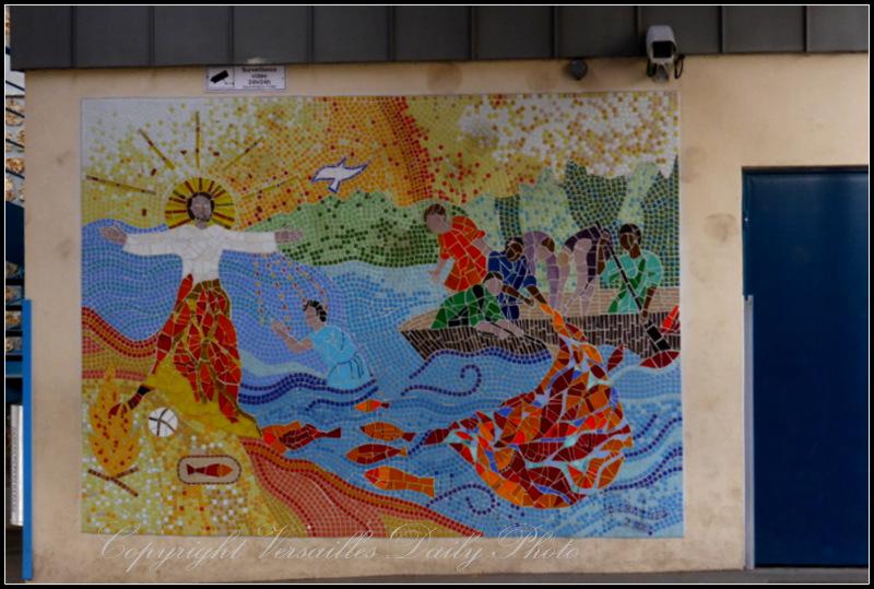 Mosaic mural Saint Jean Hulst school Versailles