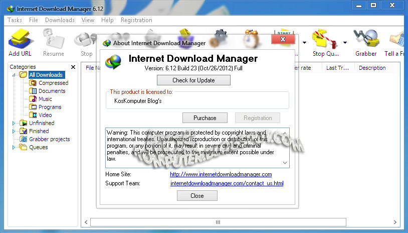 Internet Download Manager 6.12 Build 23 Final Incl Patch ~ Software ...