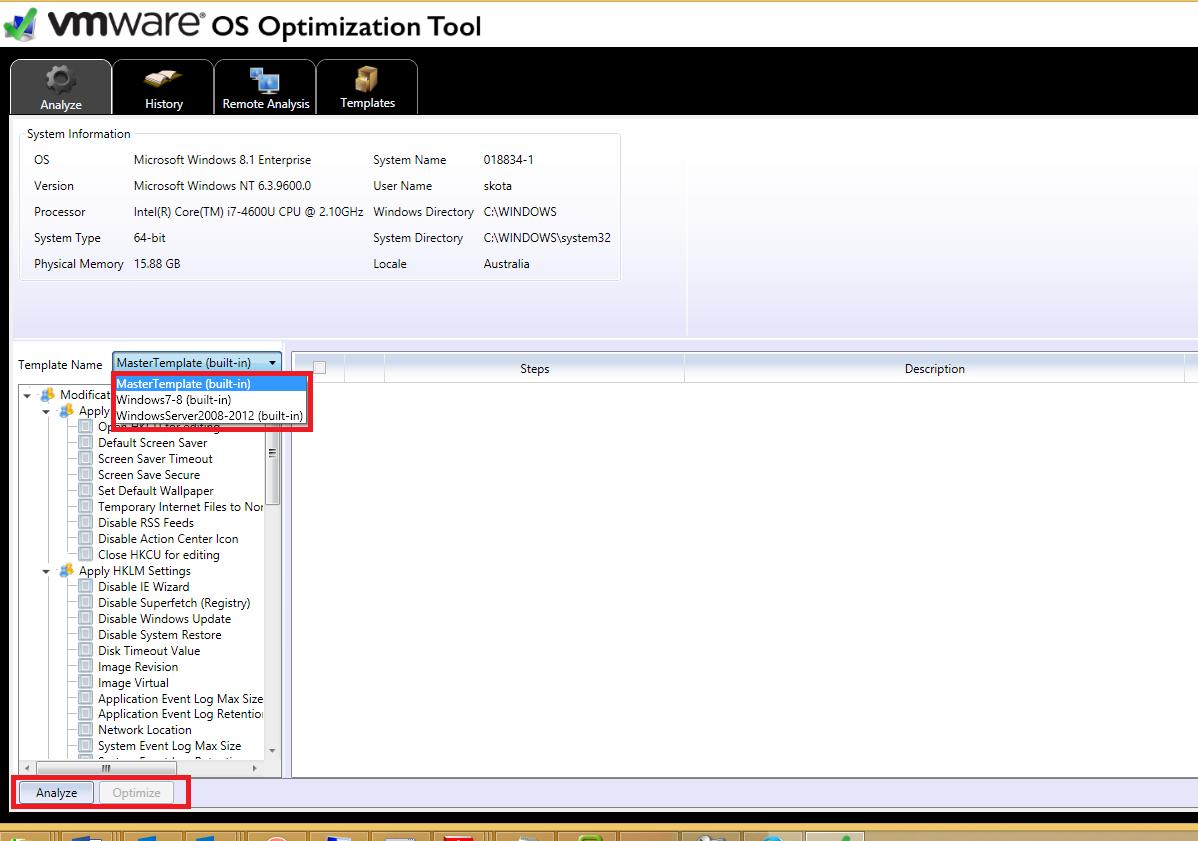 Windows 7/8, Widnows 2008/ 2012 RDSH optimization tool