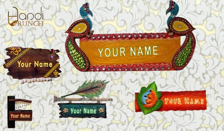 Different Type of Wooden Door Name Plates for Door Decorations ...