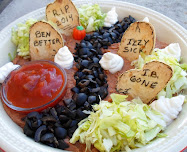 graveyard 7 layer bean dip