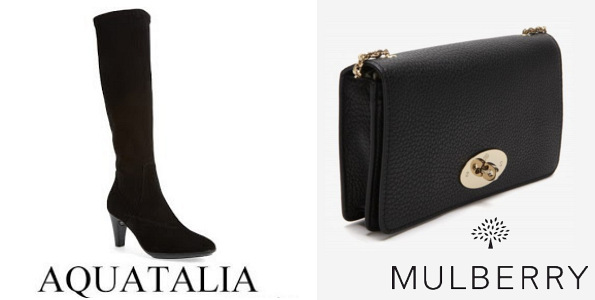 The Duchess Of Cambridge's AQUATALIA Damara Boots and MULBERRY Bayswater Clutch
