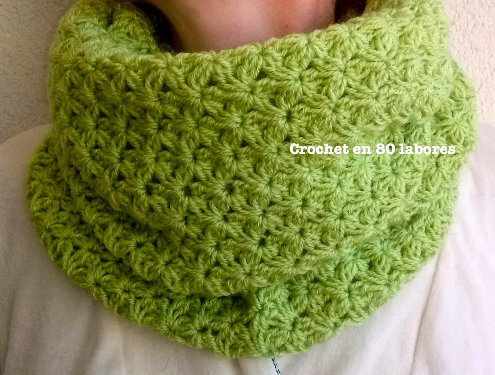 Bufandas a crochet con lana gruesa - Puntos de lana ...