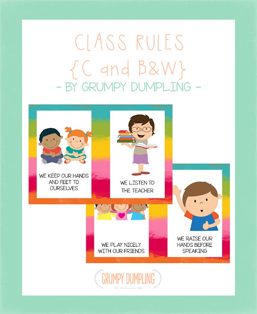 https://www.teacherspayteachers.com/Product/Class-Rules-Posters-C-BW-1561177
