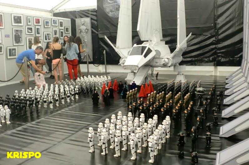 diorama star wars en san sebastian con nave