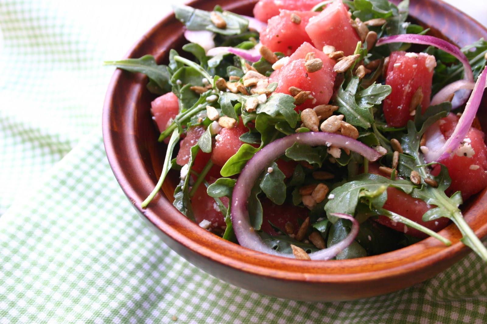 Southern Souffle: Watermelon and Arugula Salad with Toasted Sunflower ...