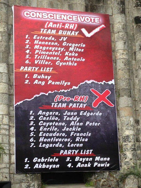Conscience Vote Team Patay, Team Buhay
