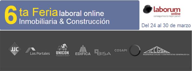 6ta feria laboral online - Inmobiliaria & Construcción