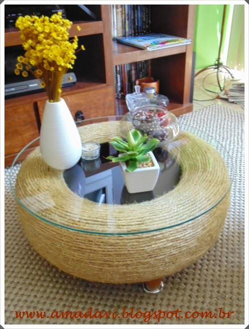 Davi o amado craftices mesa de pneu for Mesas con neumaticos
