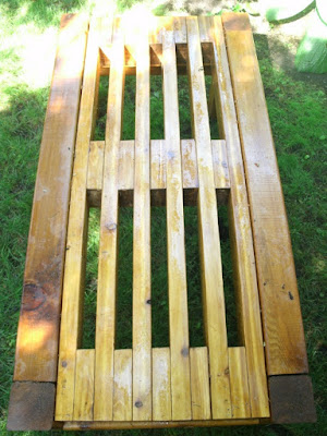 Plan view of zen cedar bench by garden muses: a Toronto gardening blog  