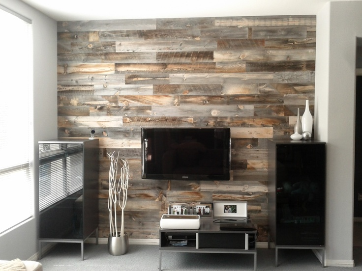 Stikwood reclaimed wood panels perfect for diyers for Adhesive reclaimed wood planks
