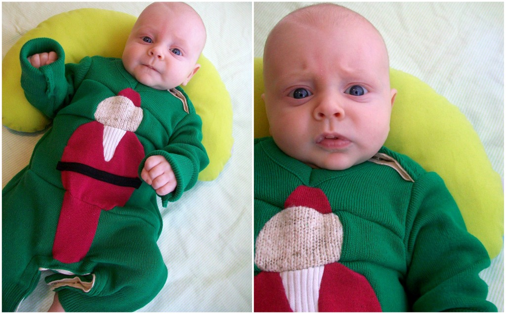 baby ugly christmas sweater one piece tutorial