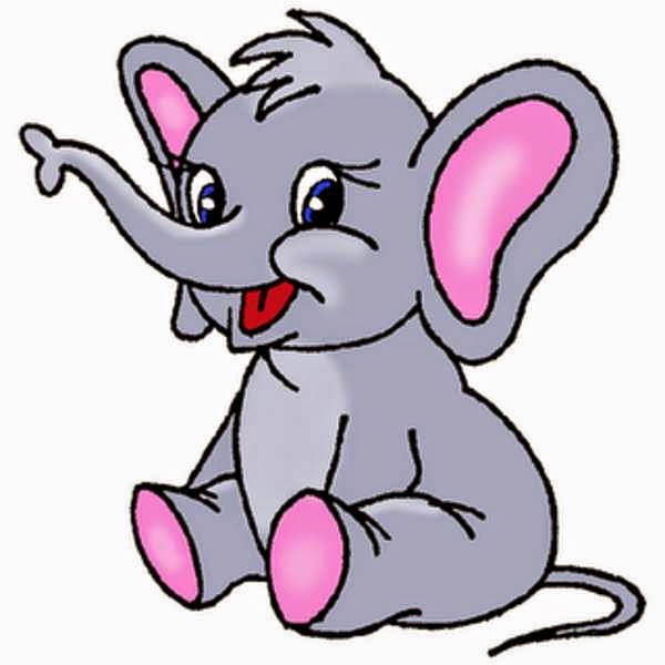 Gambar Gajah Kartun Lucu