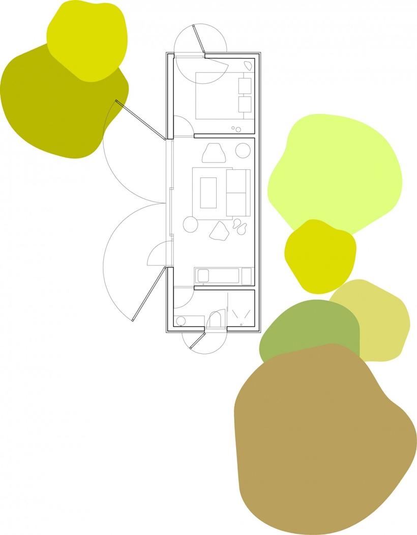 Portable home floor plan
